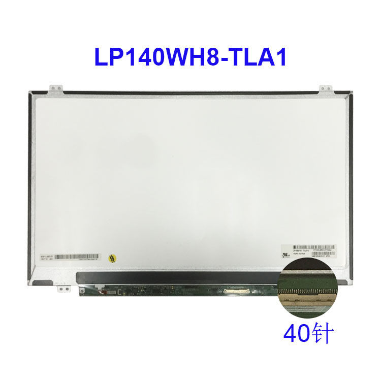 LVDS 40 Pin 14 Inch HD LCD Display Lp140wh8 Tla1 1366x768 For LG Laptop